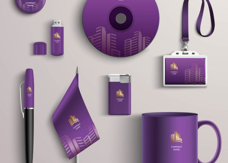 Corporate identity in purple