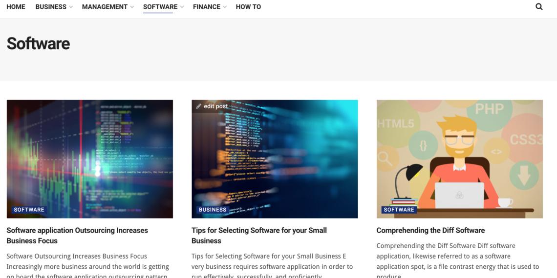 Business-steps.com main software category