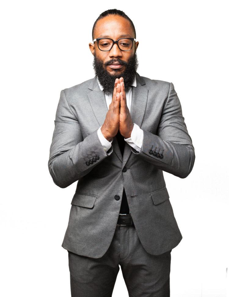 Business Man Black Man Praying