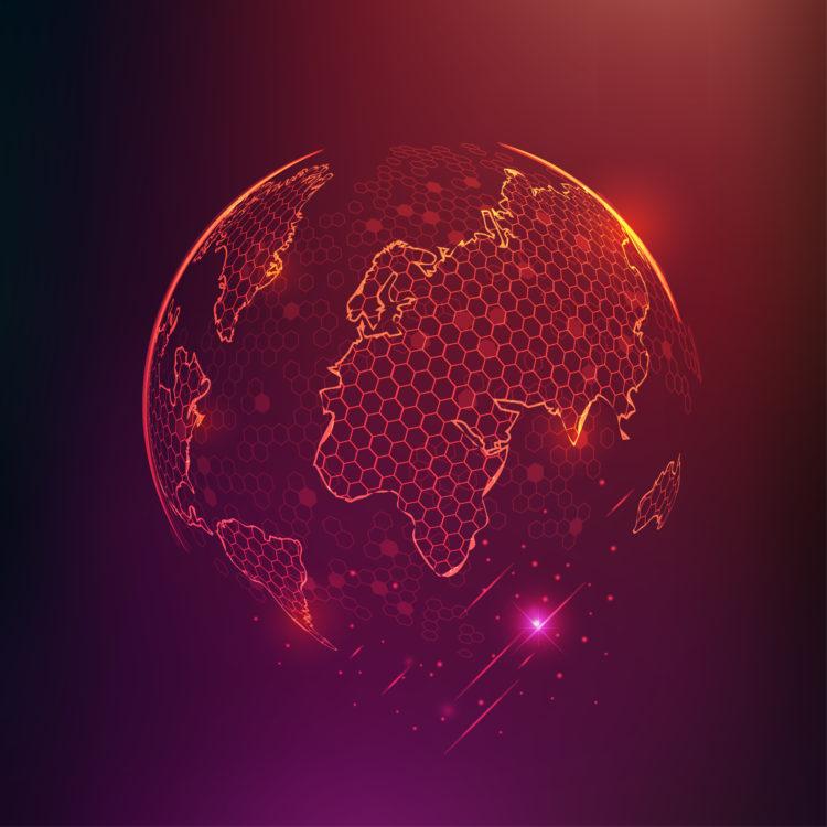 Graphic design of globe