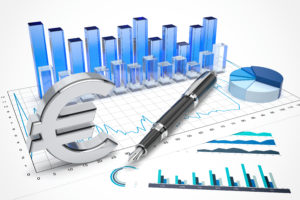 Euro stock trading concept