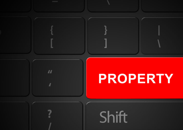 Keyboard with red property button