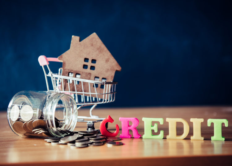 Credit for a house, credit concept